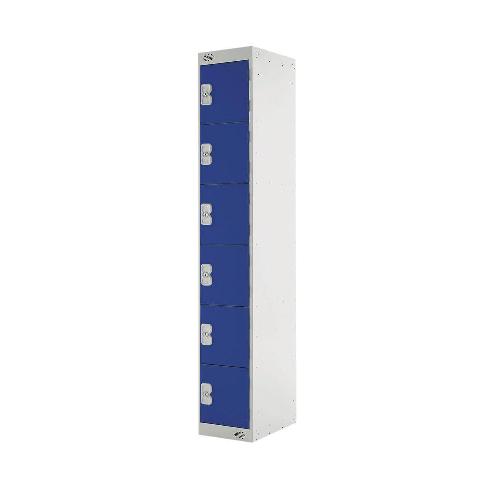 Six Compartment D300mm Blue Express Standard Locker - MC00148