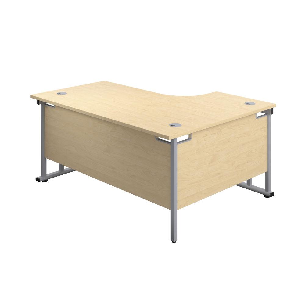 Jemini 1800mm Maple/Silver Cantilever Left Hand Radial Desk