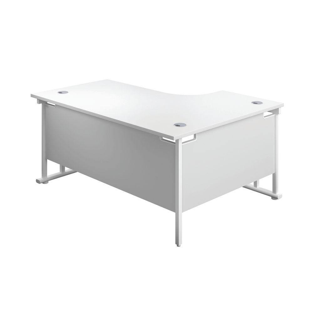Jemini 1800mm White/White Cantilever Left Hand Radial Desk