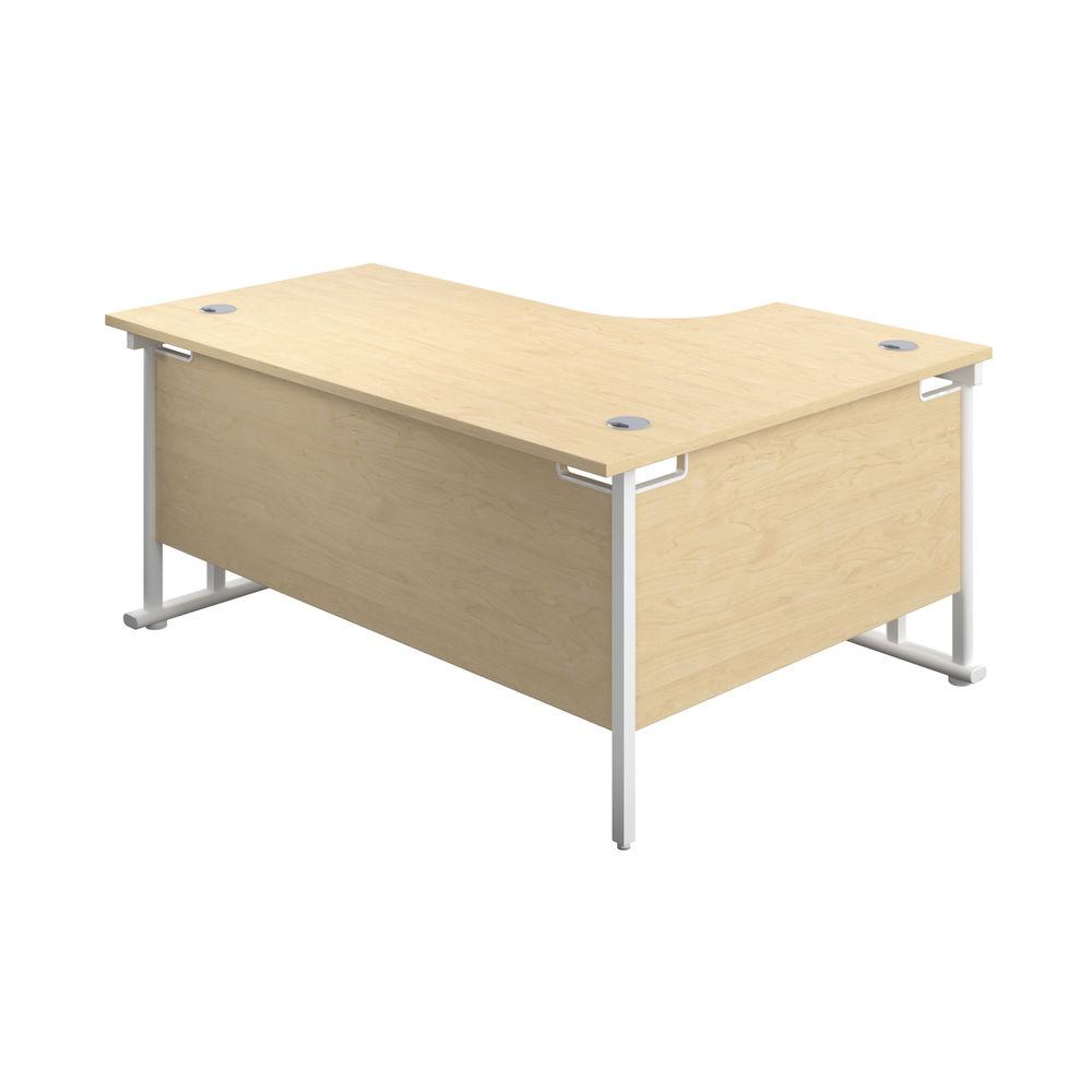 Jemini 1800mm Maple/White Cantilever Left Hand Radial Desk