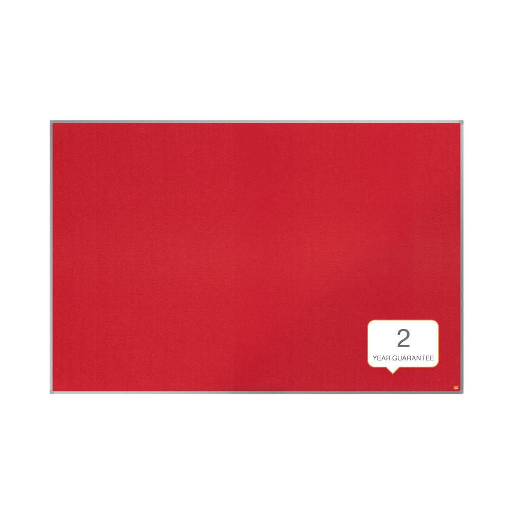 Nobo Essence Felt Notice Board 1800x1200mm Red 1904068
