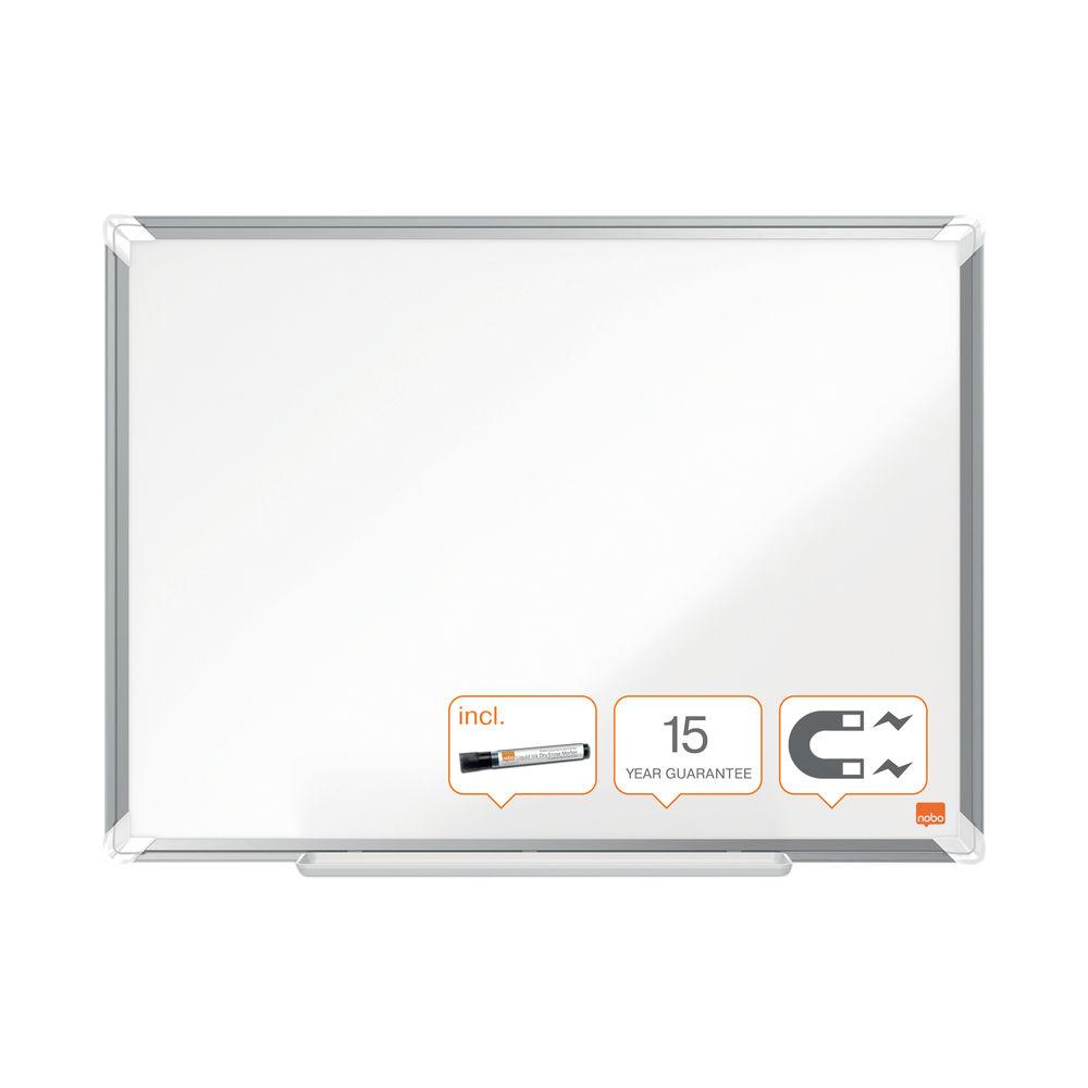 Nobo Premium Plus Steel Magnetic Whiteboard 900 x 600mm1915155