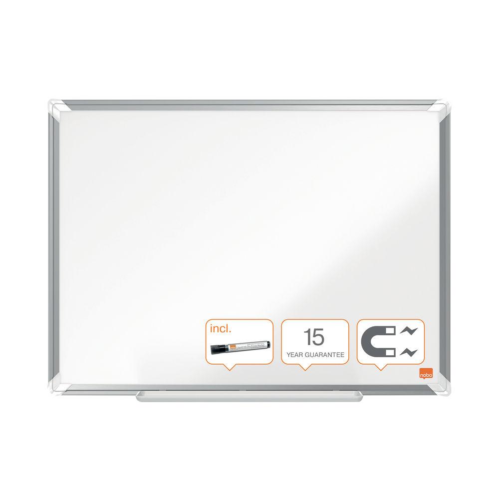 Nobo Premium Plus Steel Magnetic Whiteboard 1200 x 900mm 1915156