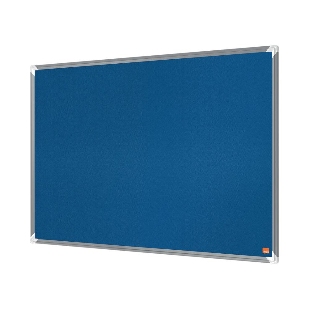 Nobo Premium Plus Felt Notice Board 1200 x 900mm Blue 1915189