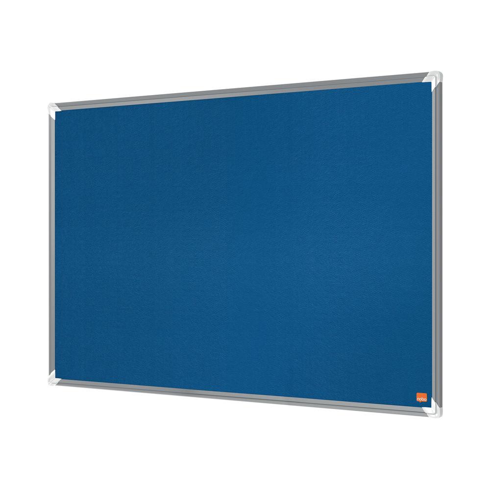 Nobo Premium Plus Felt Notice Board 1500 x 1200mm Blue 1915191