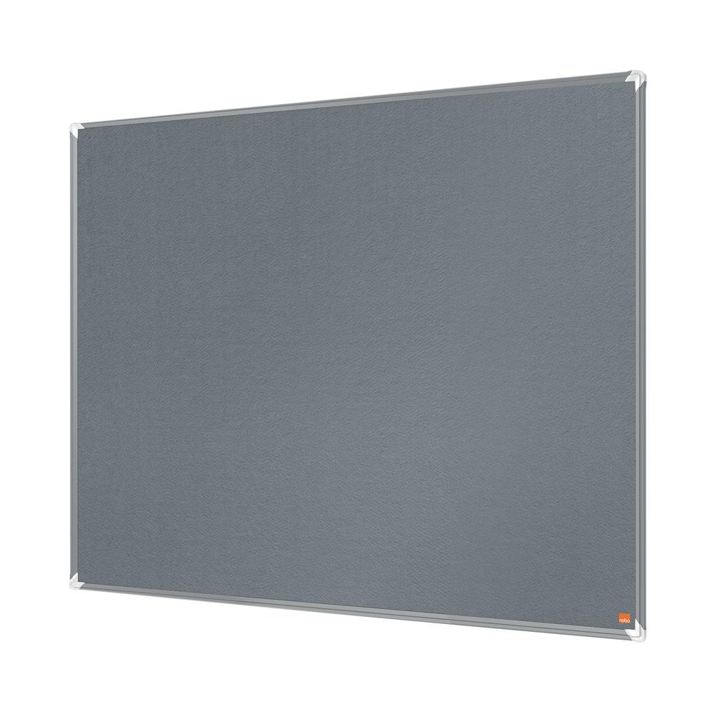 Nobo Premium Plus Felt Notice Board 1200 x 900mm Grey 1915196