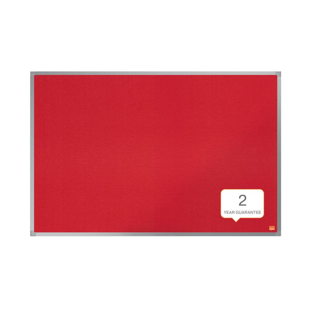Nobo Essence Felt Notice Board 600 x 450mm Red 1915202