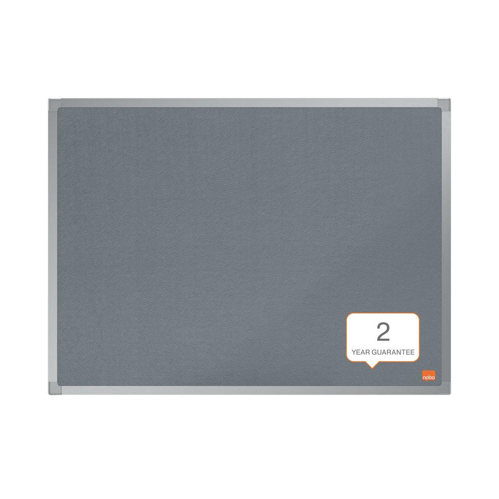 Nobo Essence Felt Notice Board 600 x 450mm Grey 1915204