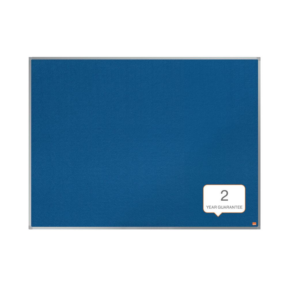 Nobo Essence Felt Notice Board 1800 x 1200mm Blue 1915438
