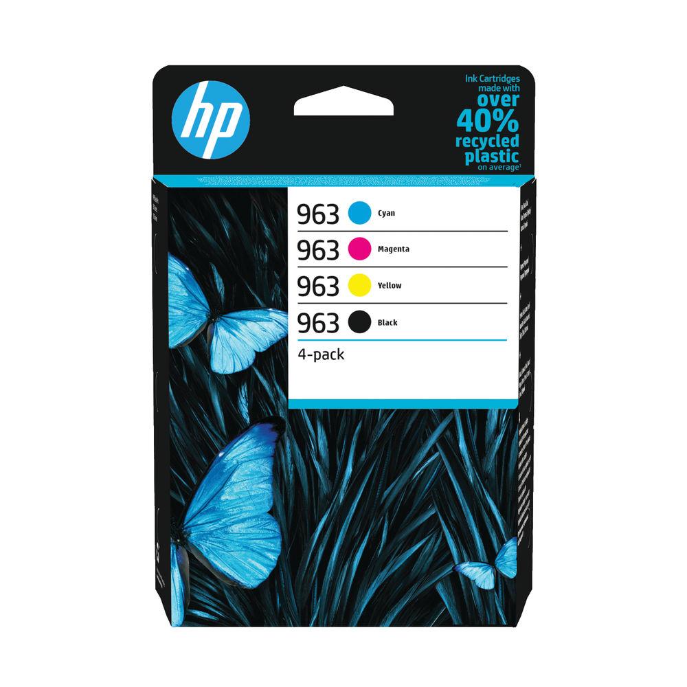 HP 963 CMYK Original Ink Cartridge (Pack of 4) – 6ZC70AE