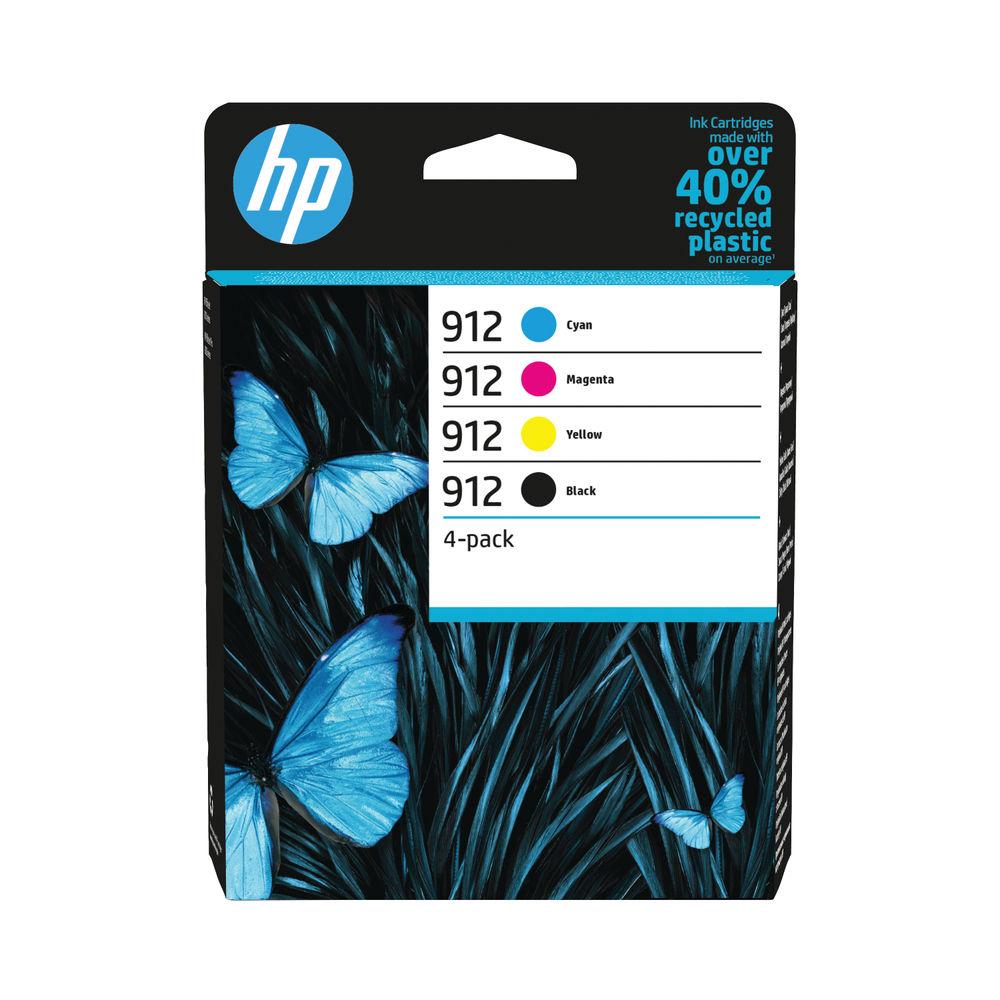HP 912 CMYK Original Ink Cartridge (Pack of 4) 6ZC74AE