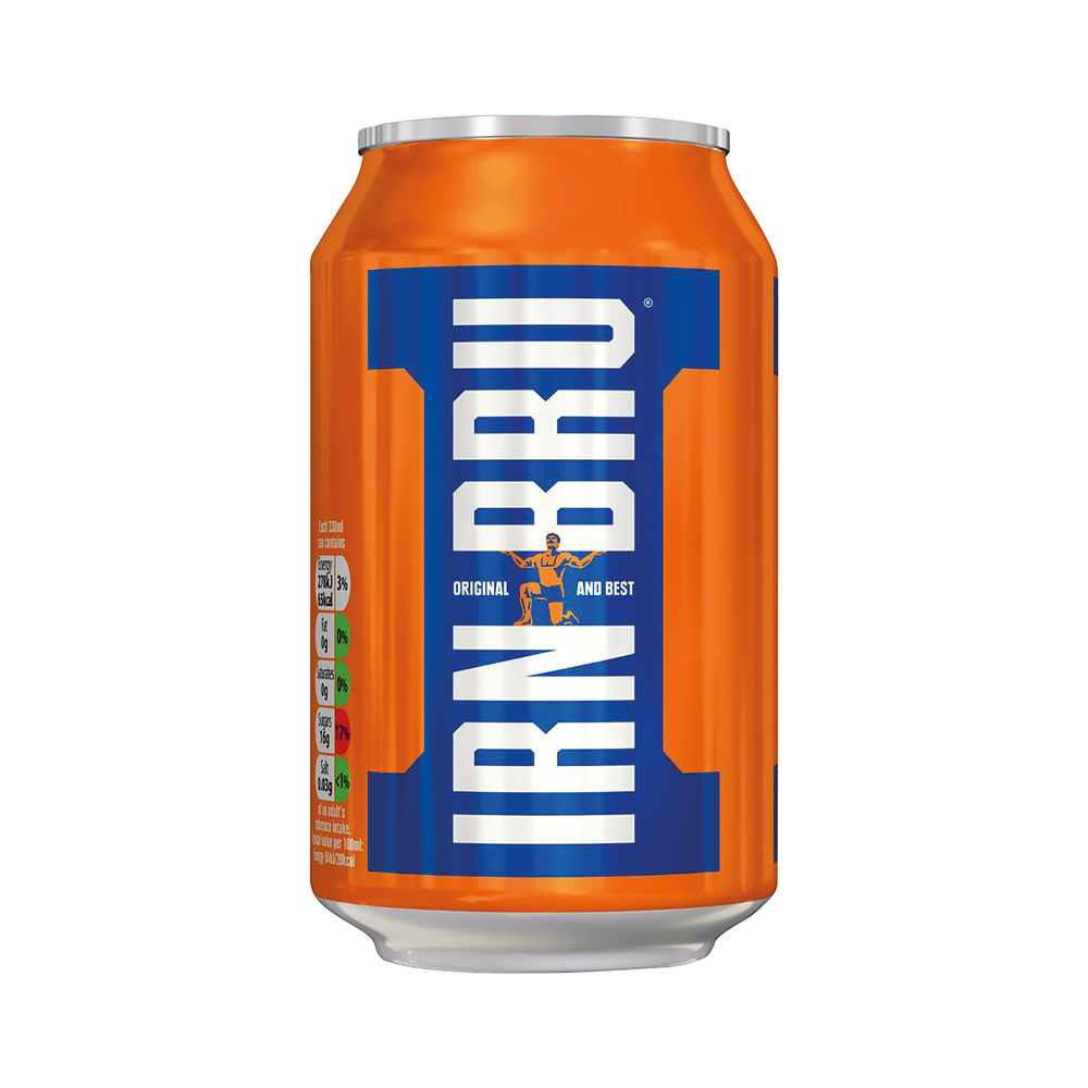 Barrs Irn Bru 330ml Cans, Pack of 24 - 402034