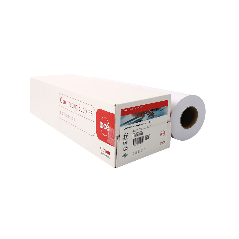 Canon Uncoated White Inkjet Paper 75gsm, 814mm x 175m - 99967977