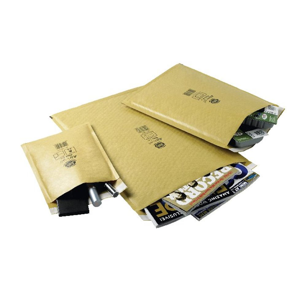 Jiffy Airkraft Gold Size 7 Mailers, Pack of 50 - JL-GO-7