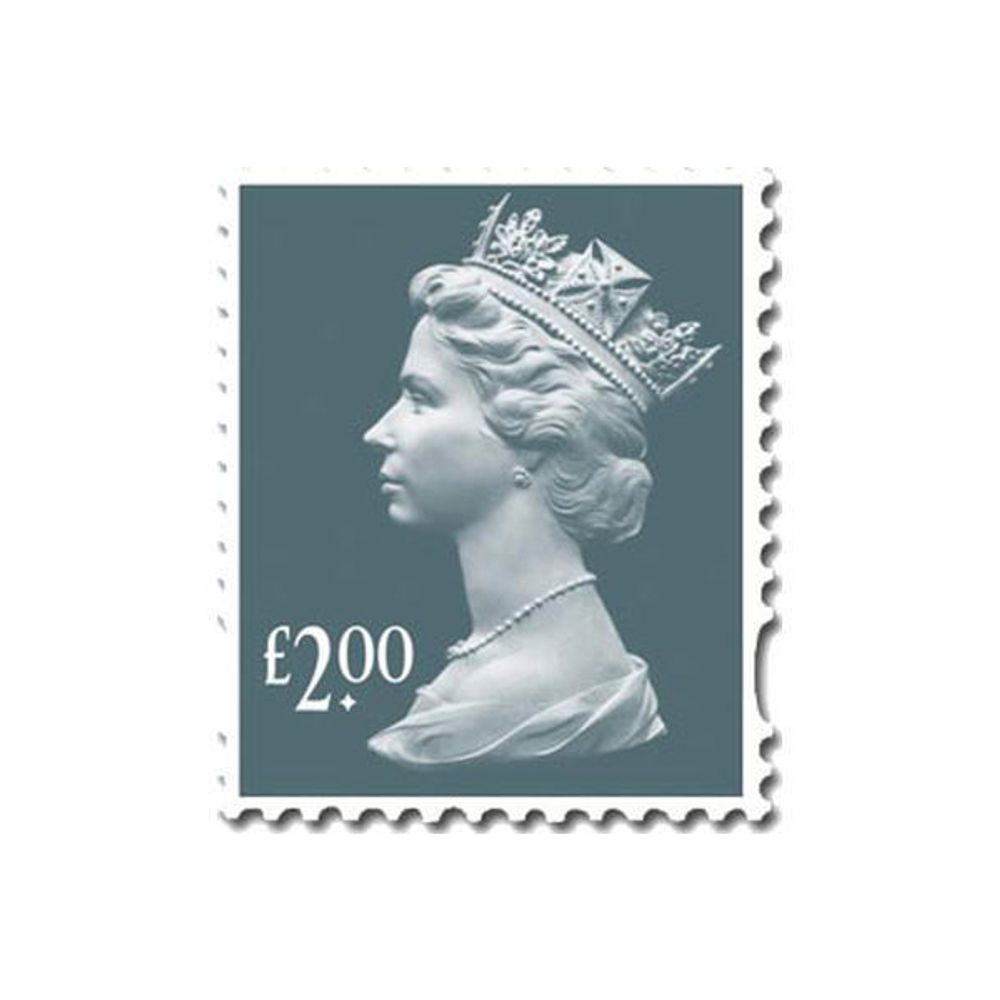 Royal Mail £2 Postage Stamps x 25 Pack (Self Adhesive Stamp Sheet)