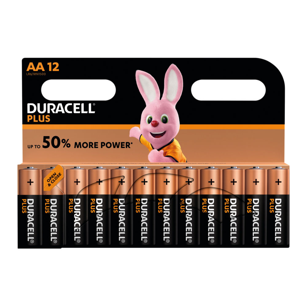 Duracell Plus AA Batteries, Pack of 12 - 81275378
