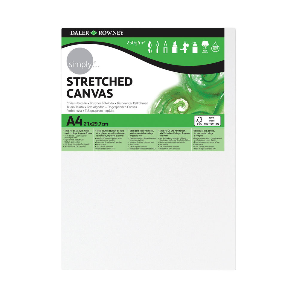 Simply A4 Canvas Panel 250gsm White 515 020 400