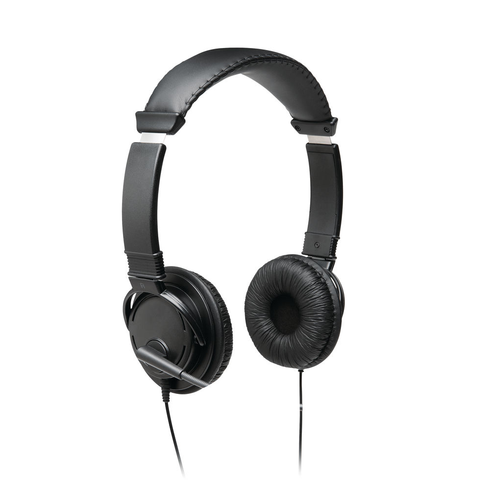 Kensington USB Hi-Fi Headphones With Microphone Black 6017451
