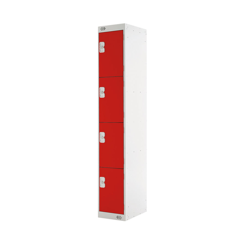 Four Compartment D300mm Red Locker - MC00023