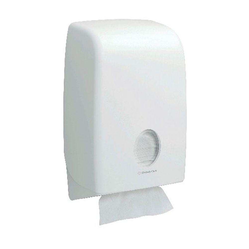 Aquarius White Folded Hand Towel Dispenser - 6945