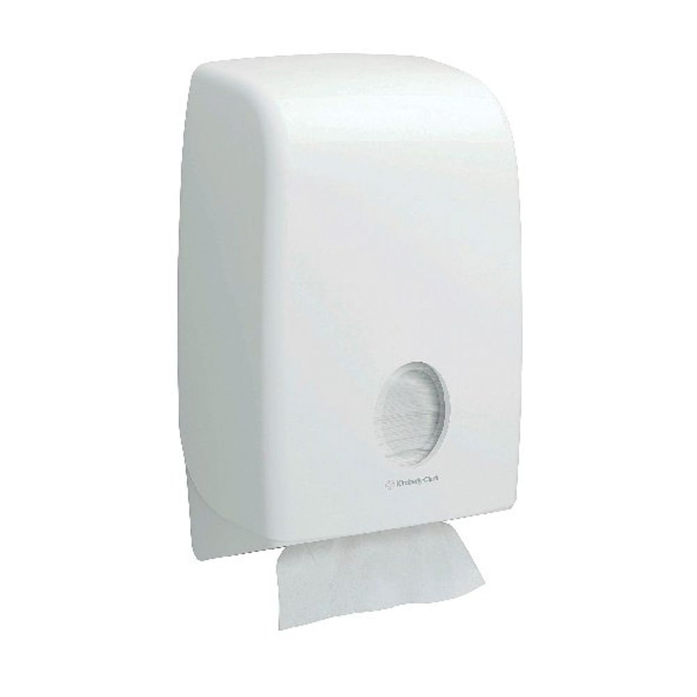 Aquarius White Folded Hand Towel Dispenser - 6945