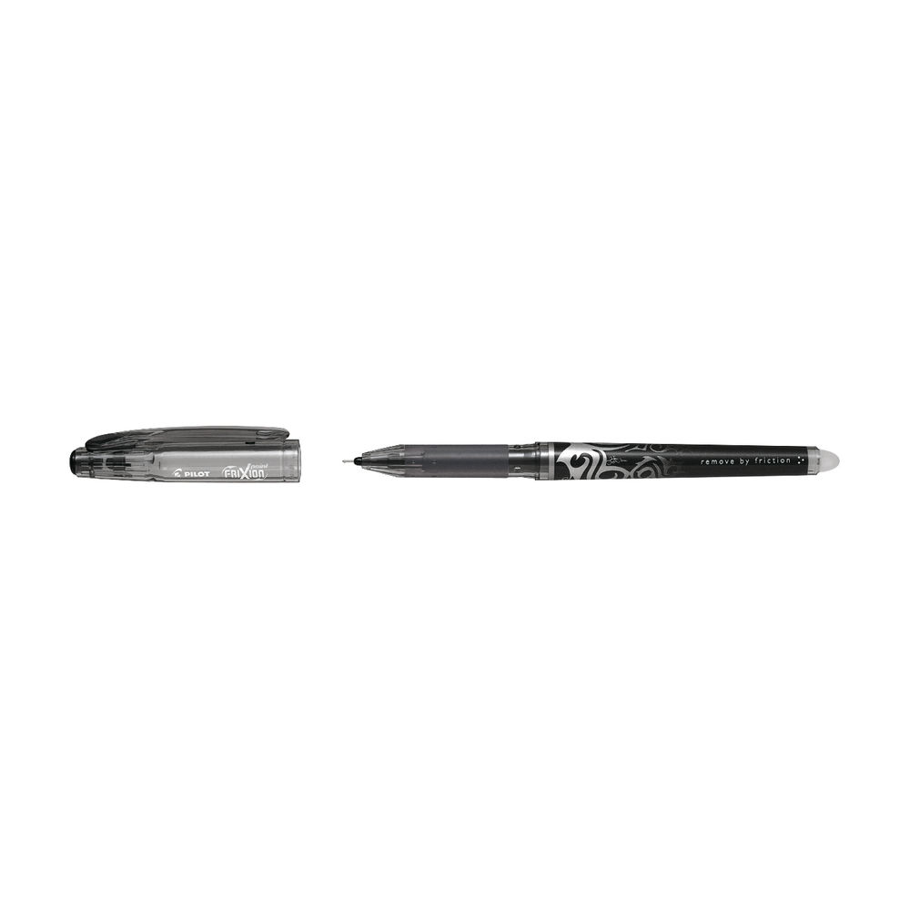 Pilot FriXion Extra Fine Black Rollerball Pens, Pack of 12 - 227101201