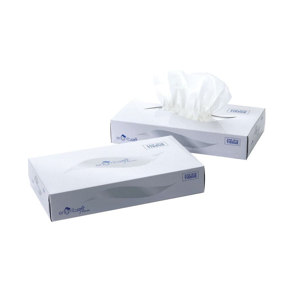 Mansize White 2-Ply Facial Tissue Boxes, Pack of 24 - MSF100