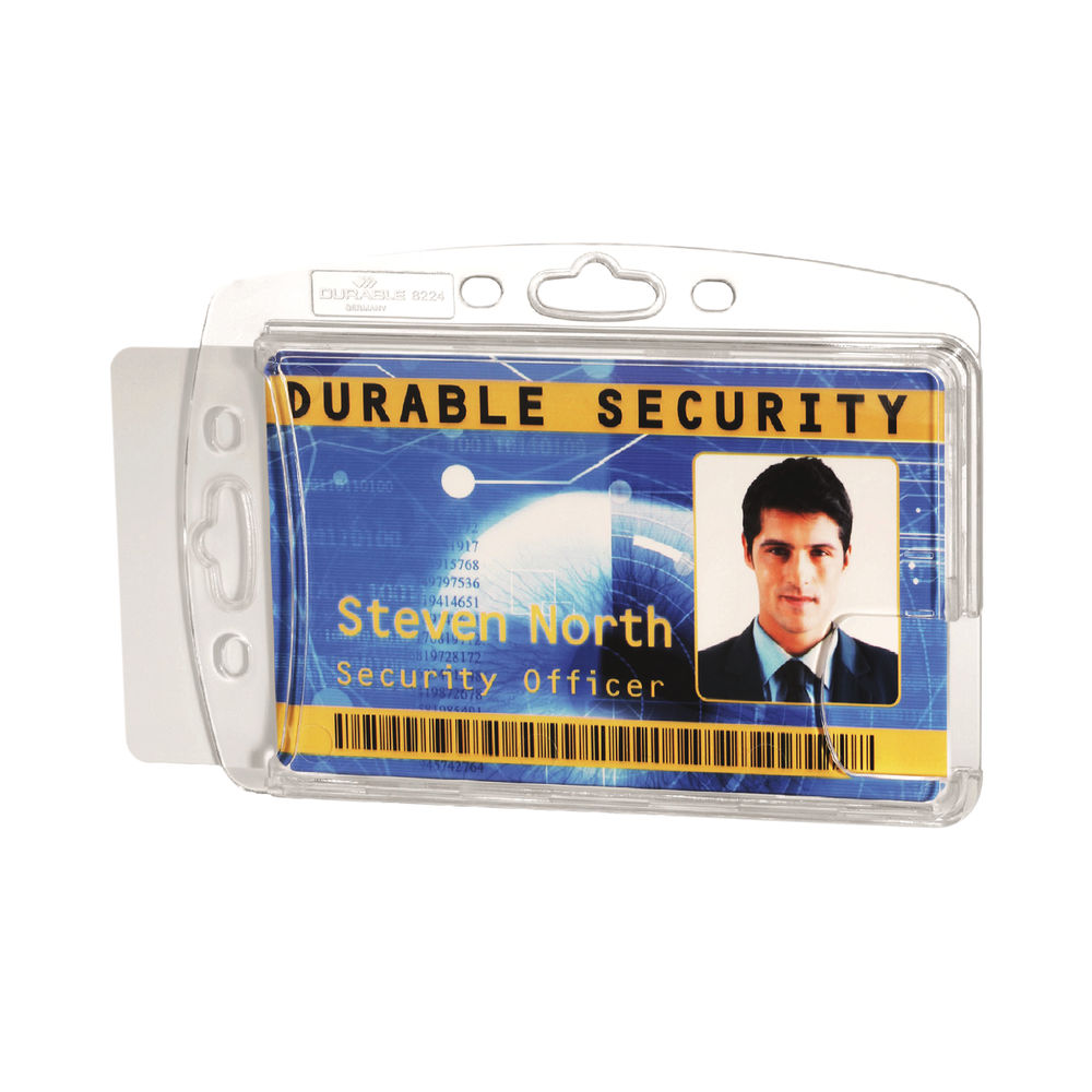 Durable Dual Proximity Card Holder 54x85mm (Pack of 10) 892419