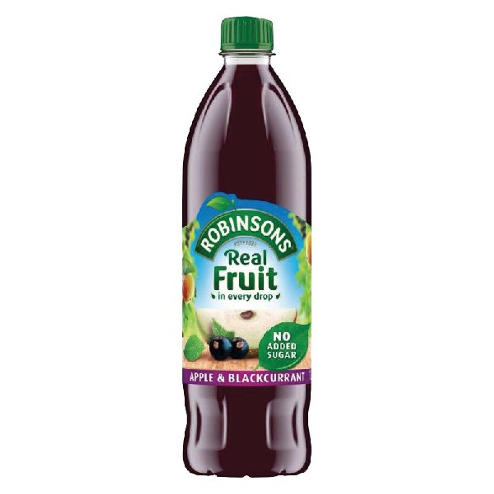 Robinsons 1 Litre No Added Sugar Apple and Blackcurrant Squash - 402013