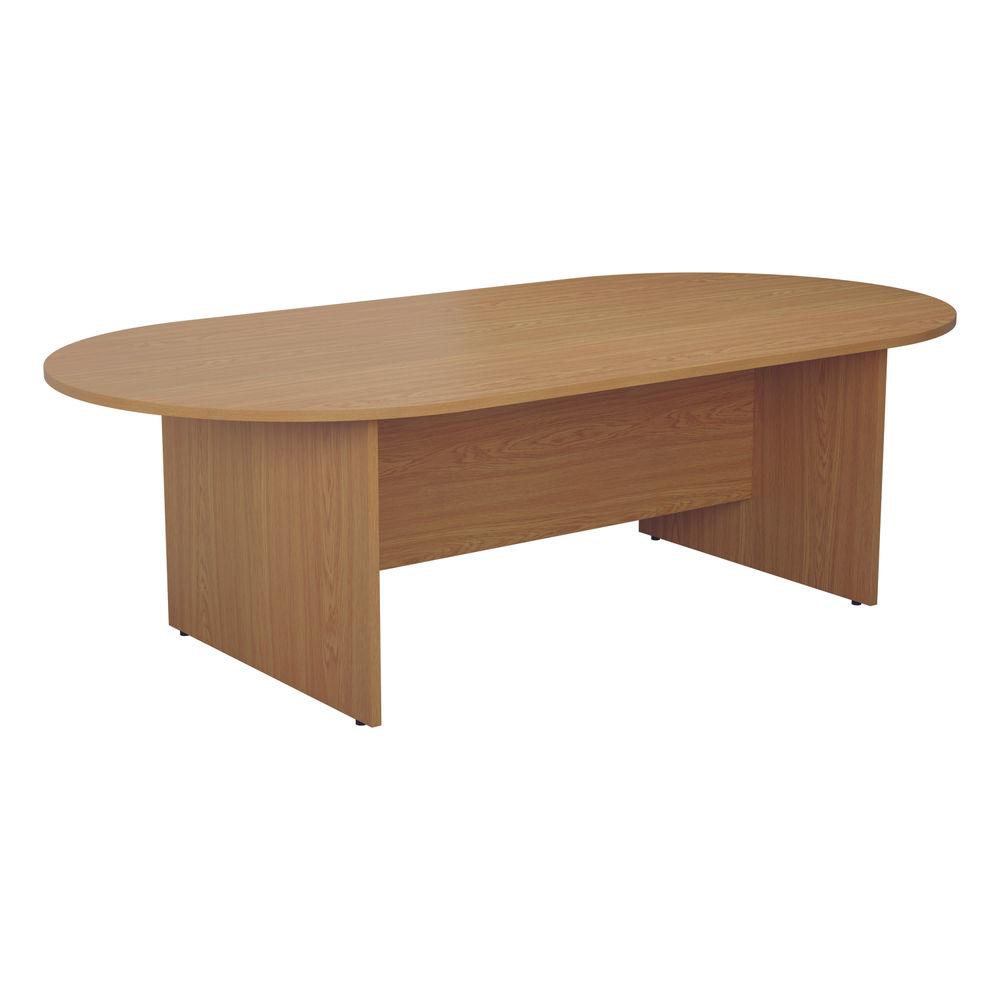Jemini 2400mm Nova Oak D-End Meeting Table