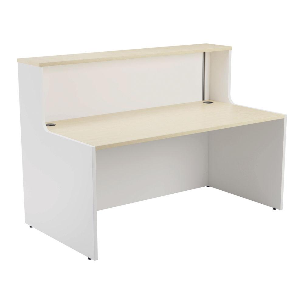 Jemini 1600mm Maple/White Reception Unit