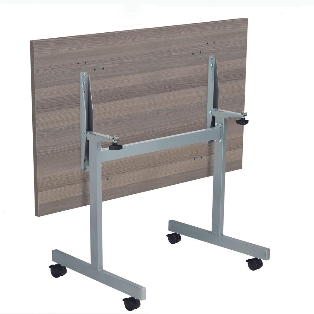 Jemini 1200x700mm Grey Oak/Silver Rectangular Tilting Table