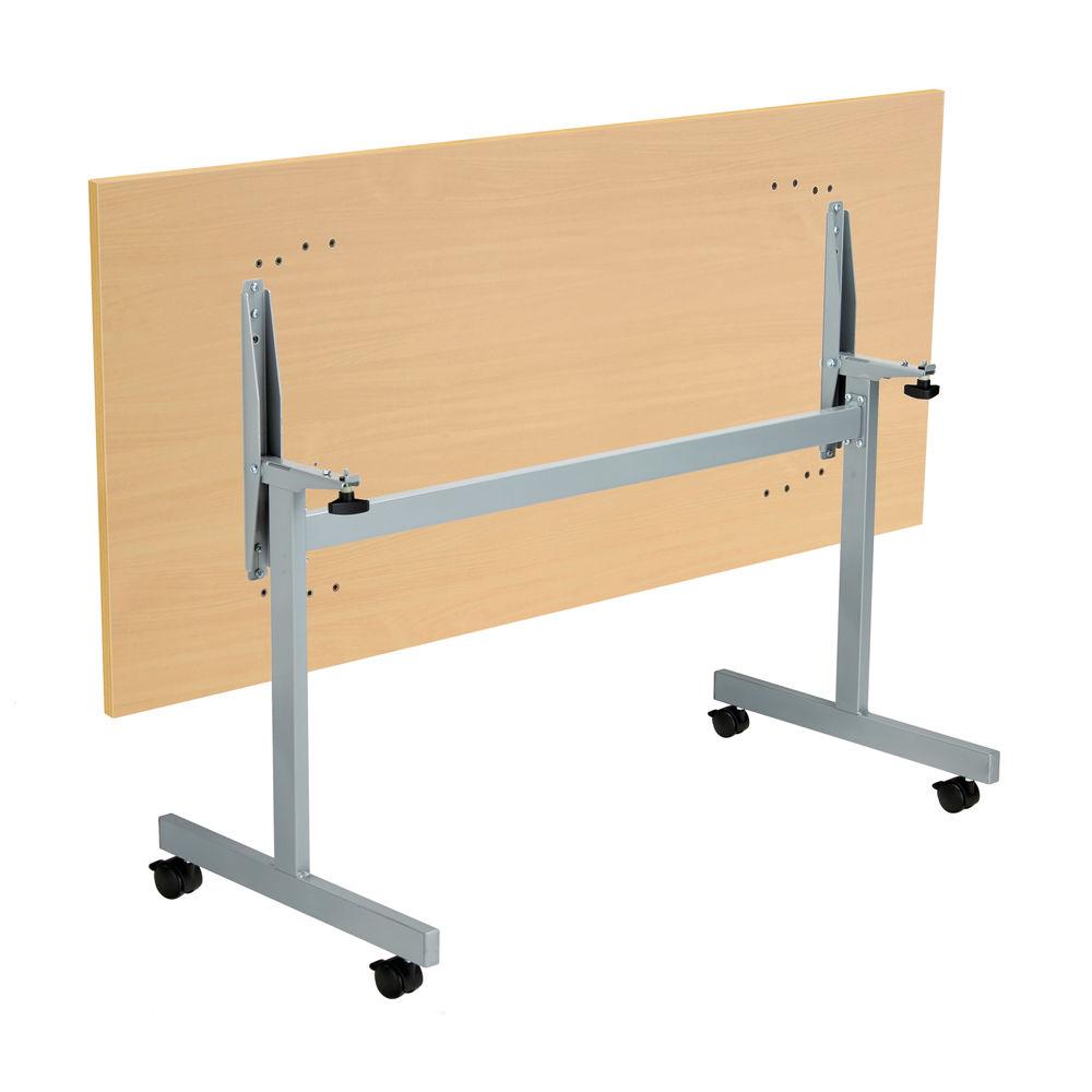 Jemini 1600x700mm Nova Oak/Silver Rectangular Tilting Table