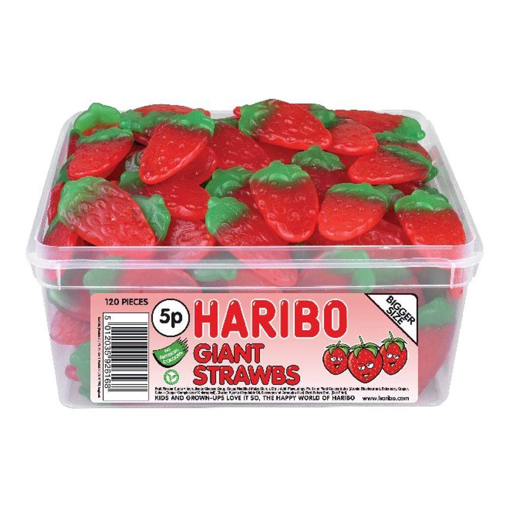 Haribo Giant Strawbs Drum - 9547