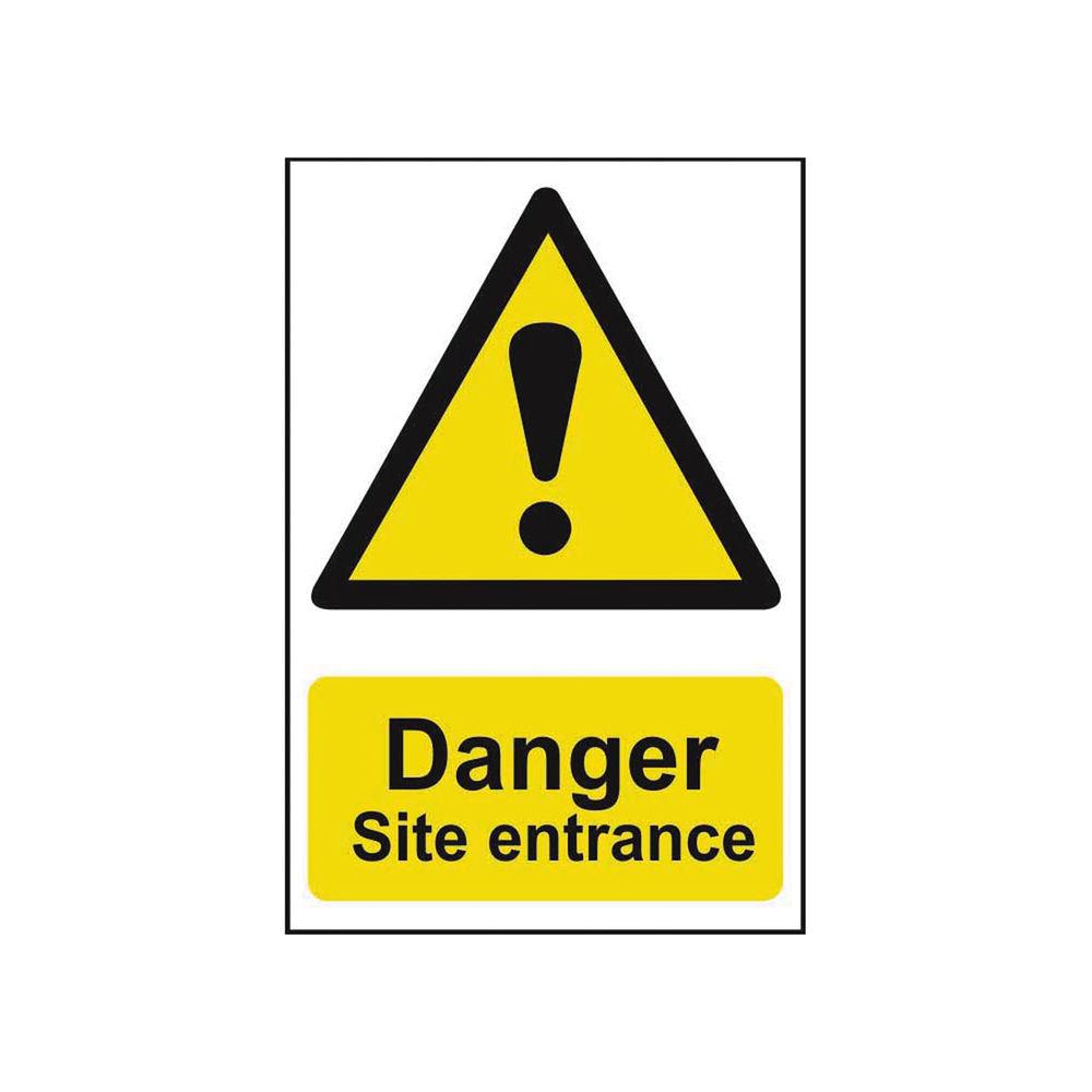 Spectrum Industrial Danger Site Entrance S/A PVC Sign 400x600mm 4102