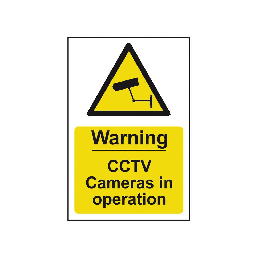 Spectrum Industrial Warning CCTV Cameras In Op S/A PVC Sign 200x300mm 1311