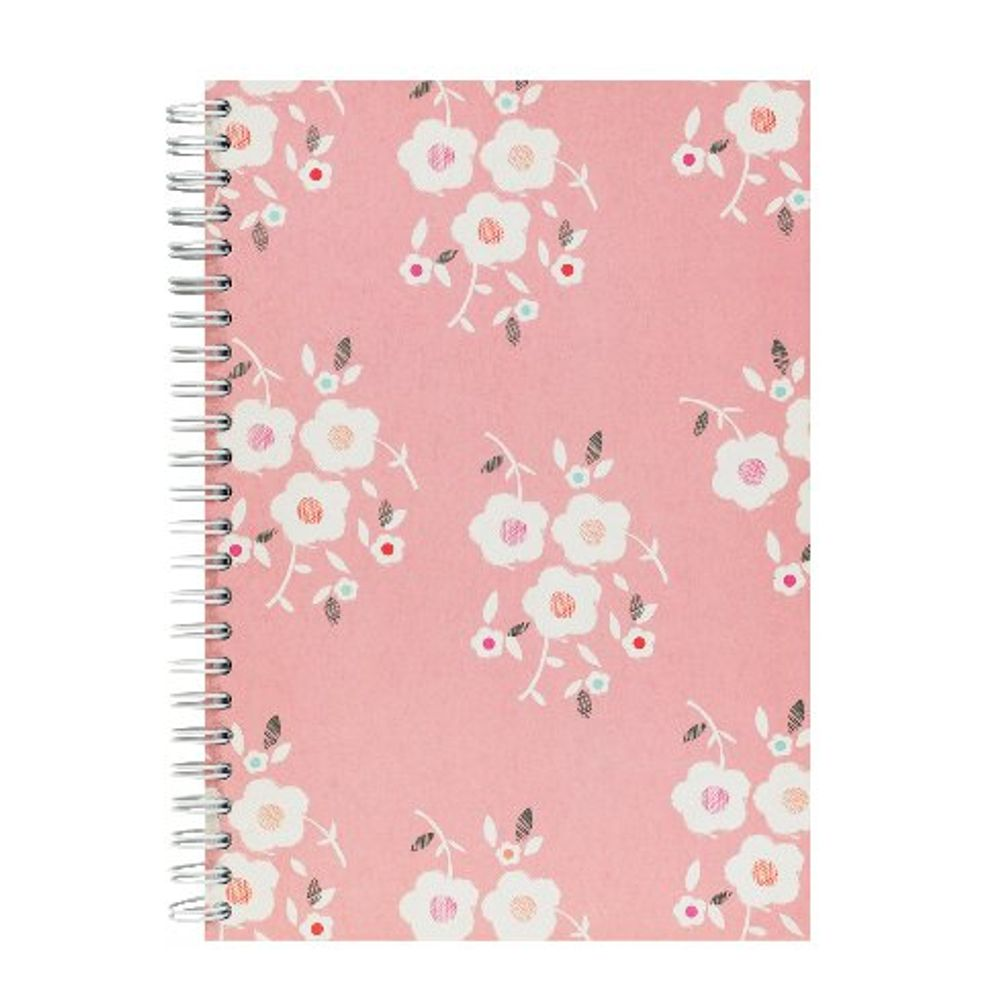 Go Stationery Pink A5 Tulip Garden Cluster Notebook – 5NC165B