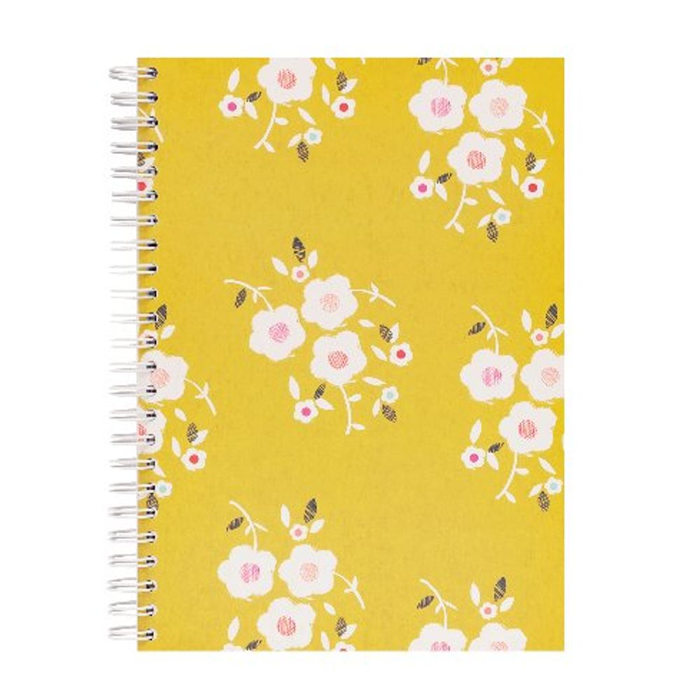 Go Stationery Lime A5 Tulip Garden Cluster Notebook - 5NC165A
