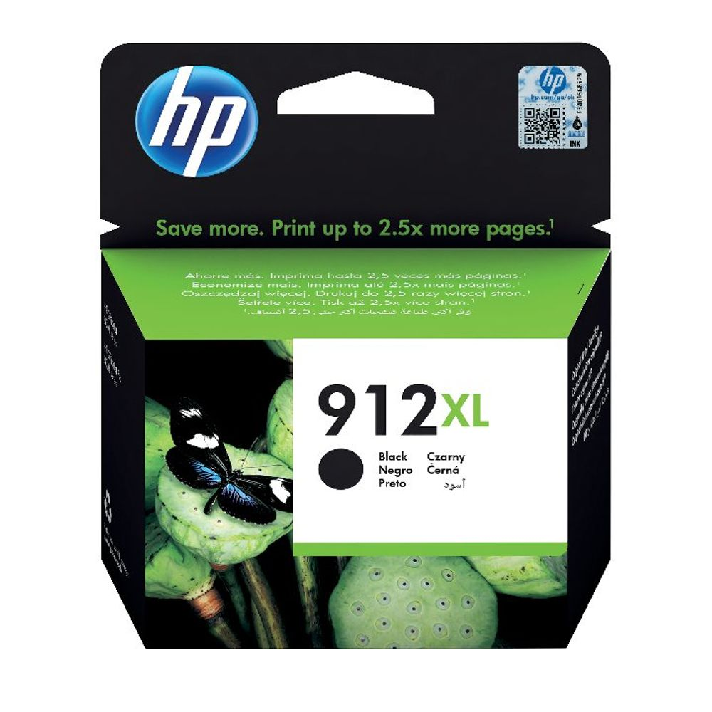 HP 912XL Black Ink Cartridge - High Capacity 3YL84AE