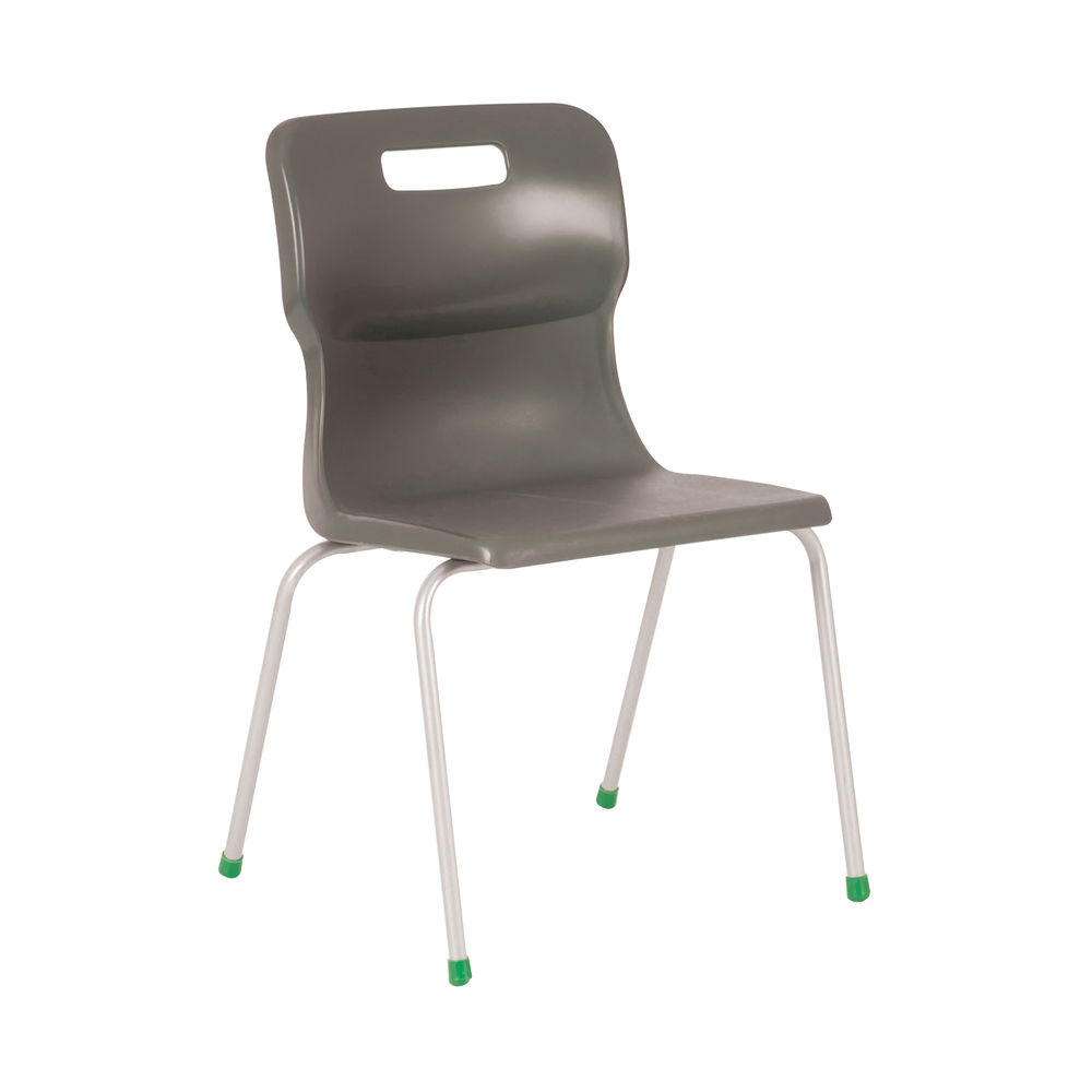 Titan 350mm Charcoal 4-Leg Chair – T13