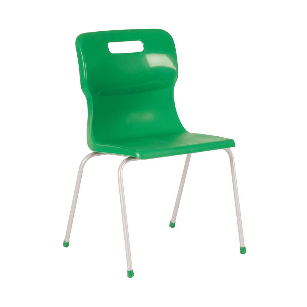 Titan 350mm Green 4-Leg Chair