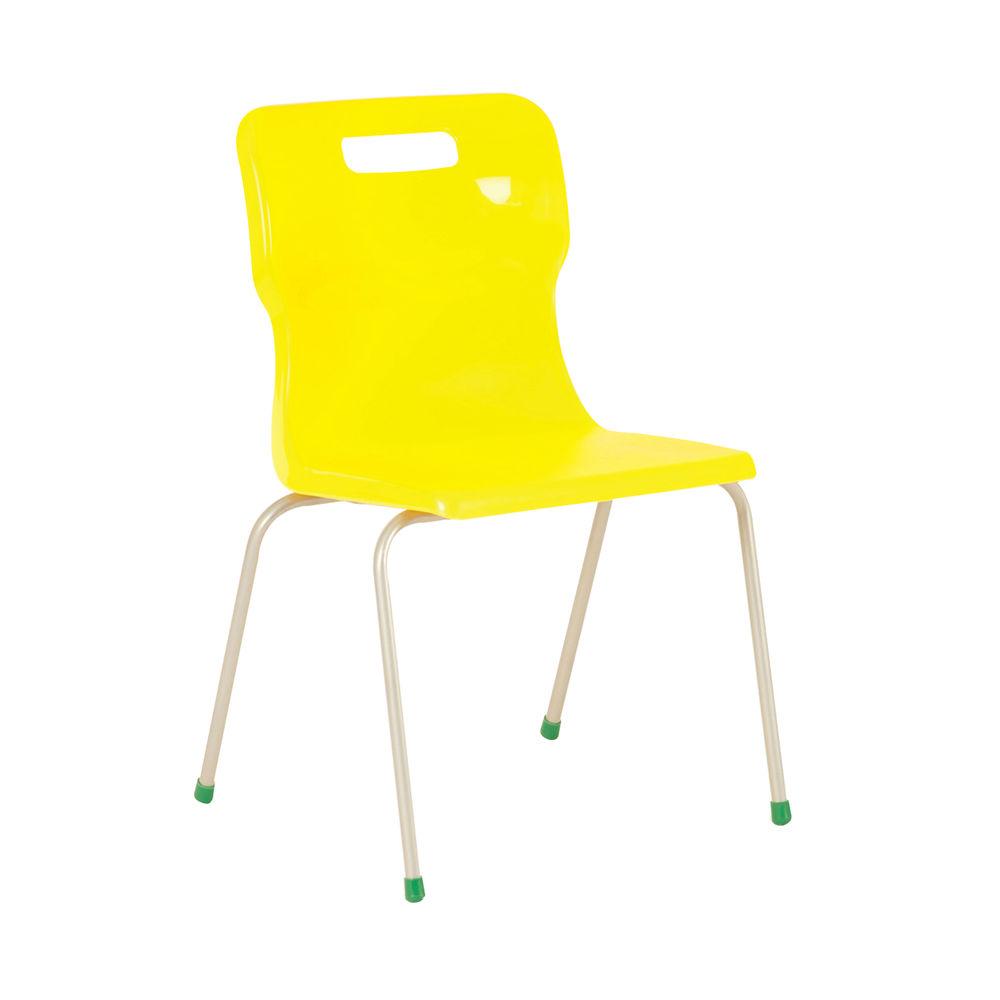 Titan 380mm Yellow 4-Leg Chair