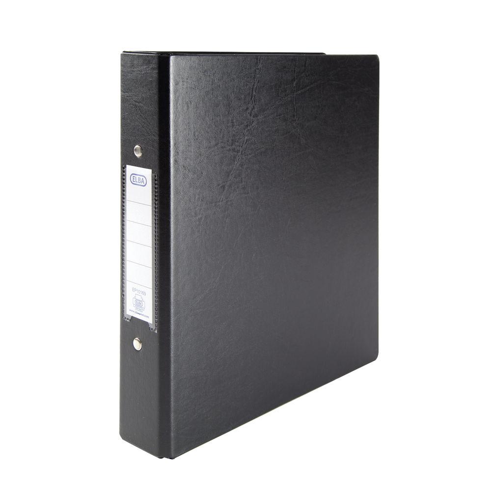 Elba Black A5 2 O-Ring Binder 25mm, Pack of 10 - 100082442