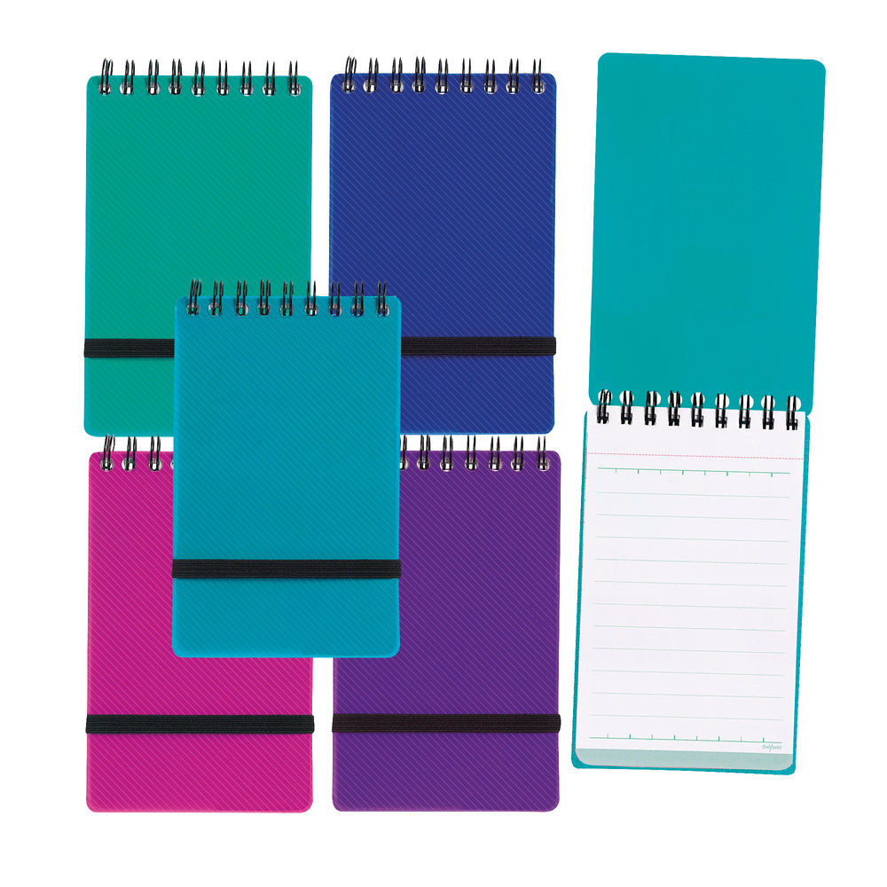 Snopake Noteguard Notebook 76 x 127mm Assorted (Pack of 5) 14324