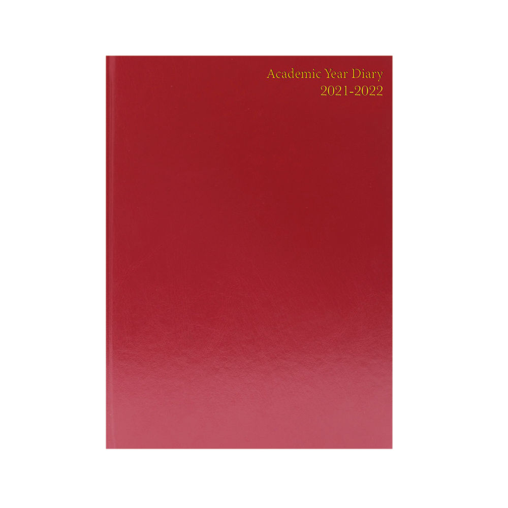 Academic Diary Day Per Page A5 Burgundy 2021-2022 KF1A5ABG21