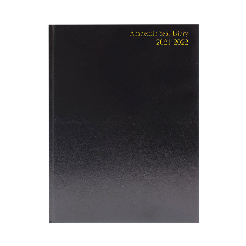 Academic Diary Day Per Page A5 Black 2021-2022 KF1A5ABK21