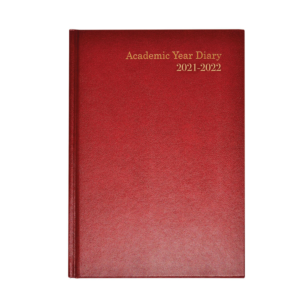 Academic Diary Week To View A5 Burgundy 2021-2022 KF3A5ABG21