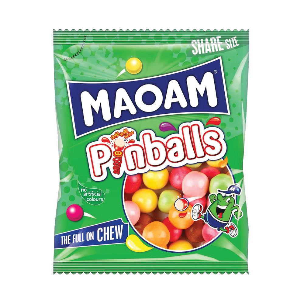 Haribo Maoam 140g Pinballs Bags, Pack of 12 - 540730