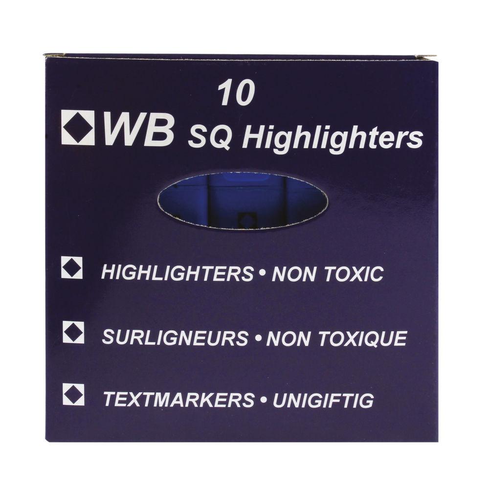 Blue Hi-Glo Highlighter Pens (Pack of 10) – 844003