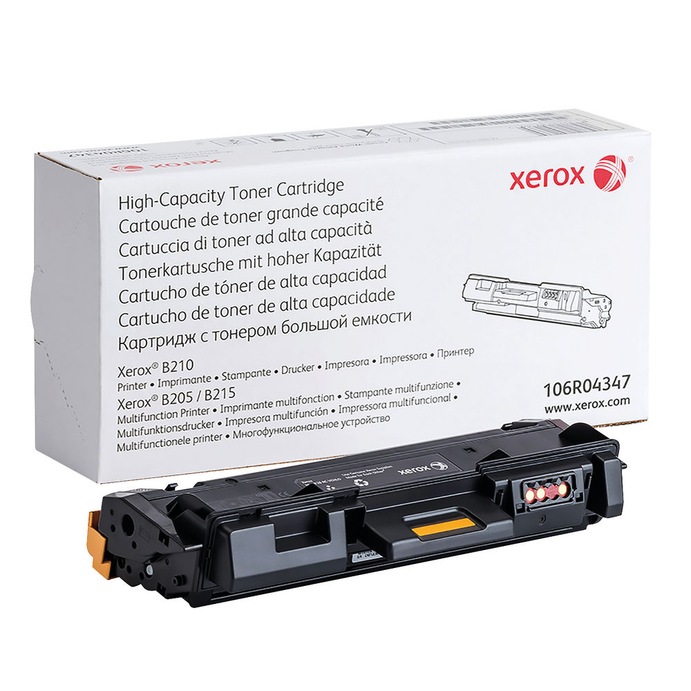 Xerox B210/B205/B215 Black Toner Cartridge - High Capacity 106R04347